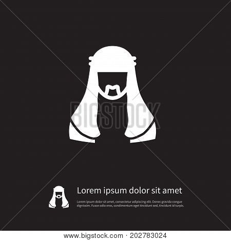 Mussulman Vector Element Can Be Used For Moslem, Mussulman, Muslim Design Concept.  Isolated Moslem Icon.