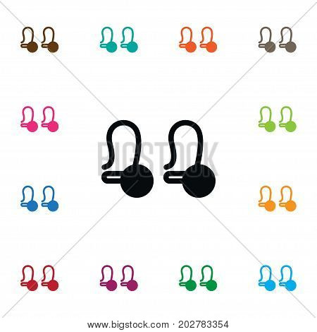 Jewel Vector Element Can Be Used For Shackle, Earring, Eardrop Design Concept.  Isolated Decoration Icon.