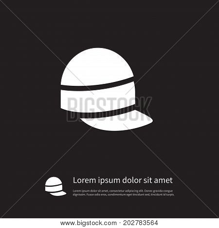 Style Vector Element Can Be Used For Ski, Hat, Accessory Design Concept.  Isolated Accessory Icon.