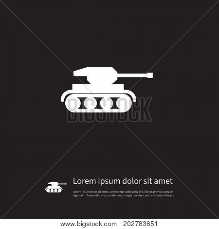 Artillery Vector Element Can Be Used For Artillery, Warfare, Troops Design Concept.  Isolated Troops Icon.