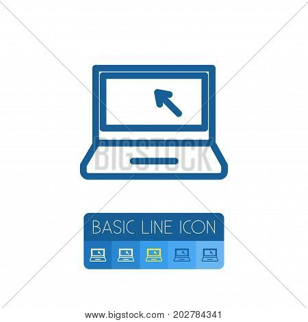 Cursor Vector Element Can Be Used For Cursor, Laptop, Desktop Design Concept.  Isolated Computer Outline.