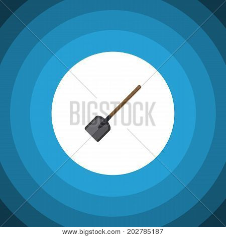 Shovel Vector Element Can Be Used For Shovel, Spade, Tool Design Concept.  Isolated Spade Flat Icon.