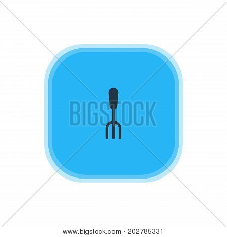 Beautiful Kitchenware Element Also Can Be Used As Fork Element.  Vector Illustration Of Dining Tool Icon.