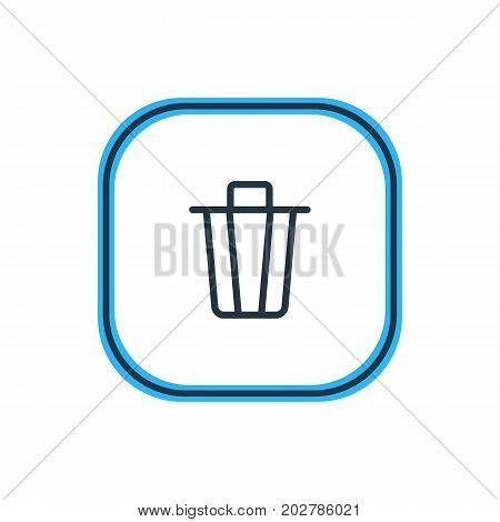 Beautiful Application Element Also Can Be Used As Garbage Container Element.  Vector Illustration Of Trash Can Outline.