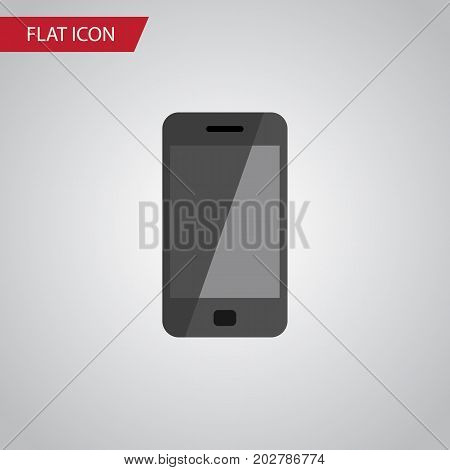 Telephone Vector Element Can Be Used For Smartphone, Telephone, Cellphone Design Concept.  Isolated Smartphone Flat Icon.