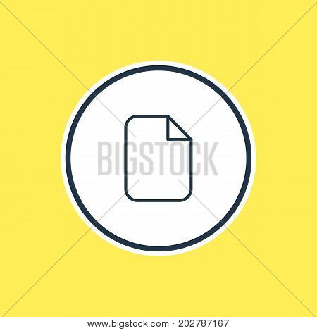 Beautiful Workplace Element Also Can Be Used As Document  Element.  Vector Illustration Of Blank Outline.