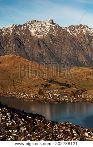 Beautiful View Of Mount Remarkables In Queenstown, South Island, New Zealand.