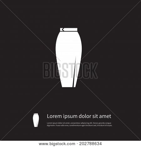 Garment Vector Element Can Be Used For Skirt, Garment, Stylish Design Concept.  Isolated Stylish Icon.