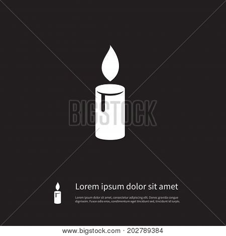 Candlelight Vector Element Can Be Used For Candlelight, Candle, Suppository Design Concept.  Isolated Lightup Icon.