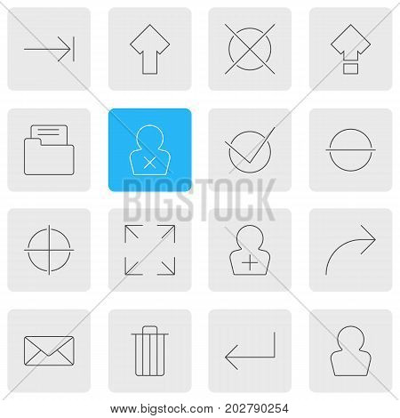 Editable Pack Of Accsess, Register Account, Tabulation Button And Other Elements.  Vector Illustration Of 16 Interface Icons.