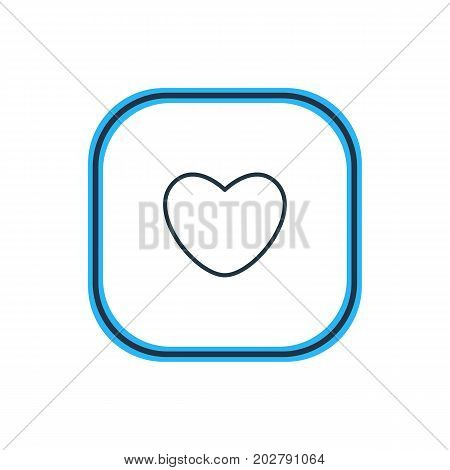 Beautiful Love Element Also Can Be Used As Soul Element.  Vector Illustration Of Heart Outline.