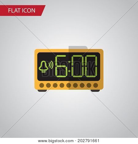 Electric Alarm Vector Element Can Be Used For Time, Electric, Alarm Design Concept.  Isolated Time Flat Icon.