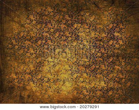 Ornamental, floral, retro grunge background