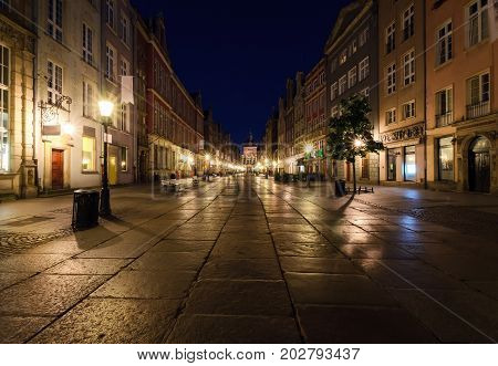 City of Gdansk in the early morning Poland Europe.