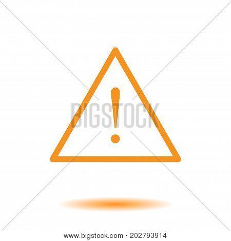 Exclamation mark. Hazard warning symbol. Flat design style.