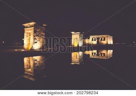 Templo de Debod Madrid Spain. Europ .