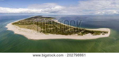 Aerial view of Sylt island, Schleswig-Holstein, nothern Germany