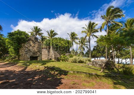 Old Architecture At Grande Anse Place, Reunion Island