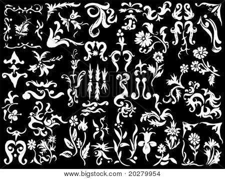 Ancient and medieval ornamental design elements set