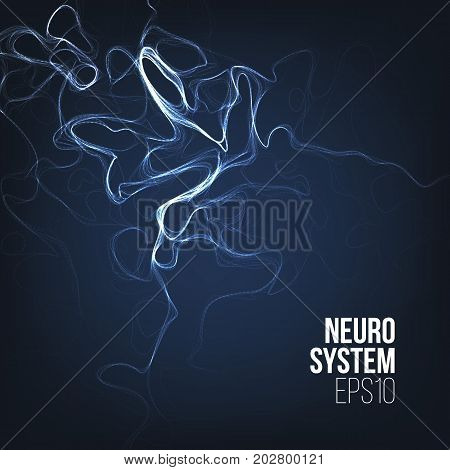 Abstract biology organic science background. Smoke cloud. Curl lines composition backdrop.
