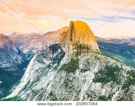 Yosemite National Park and Half Dome, California, USA