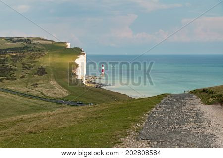View Of The Seven Sisters And Beachy Head Lighthouse