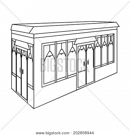Bar, restaurant. Architectural construction of the bar single icon in outline style vector symbol stock illustration .