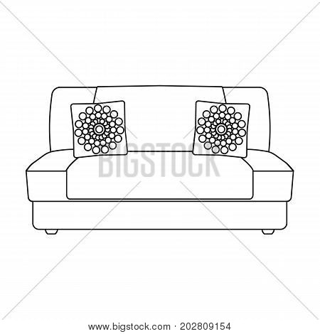 Soft, stylish and comfortable sofa. Furniture single icon in outline style Isometric vector symbol stock illustration .