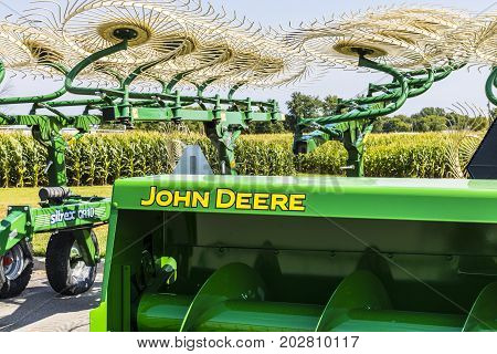 Indianapolis - Circa August 2017: John Deere Dealership. Deere manufactures agricultural construction and forestry machinery V