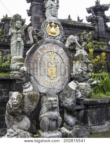 The good and evil characters of the Balinese epic are made from volcanic tuff