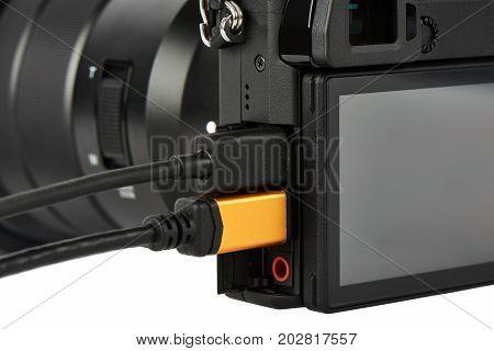Terminals On A Digital Camera Body
