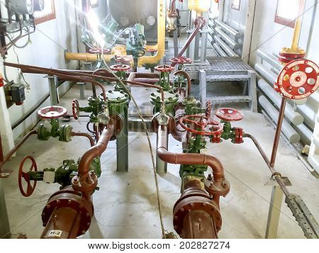 Technological Piping Of The Pipeline Of The Pump For Evacuation Of Condensate From The Gas Pipeline.