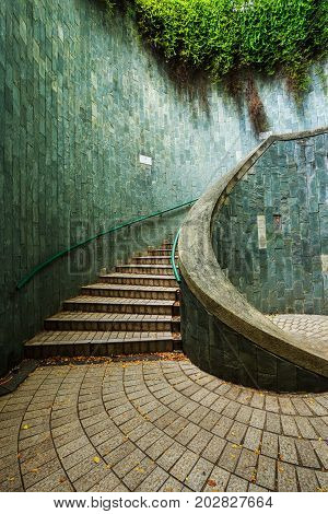 Staircase Of Underground Crossing At Fort Canning Park, Singapore