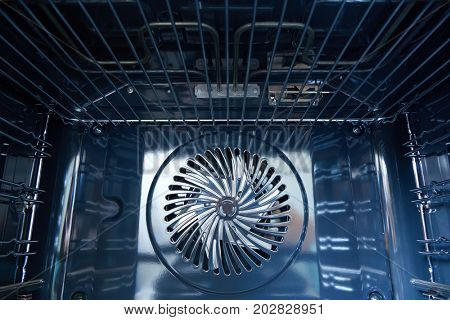 modern oven built with fan