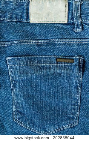 Pocket on jeans denim fashion texture background