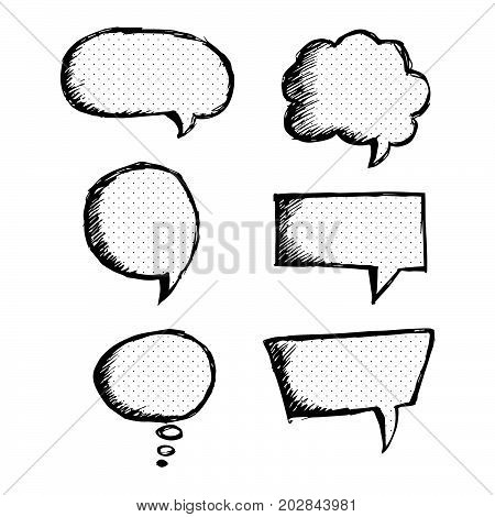 an images of Speech Bubble hand drawn design