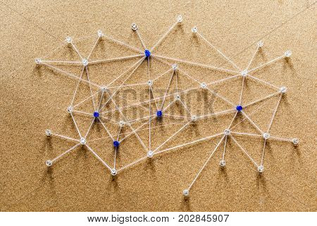 Internet network connecting system simulated