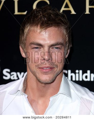 LOS ANGELES - JAN 13:  Derek Hough arrives to Bvlgari Hosts Funraiser for Save The Children  on January 13, 2011 in Los Angeles, CA.