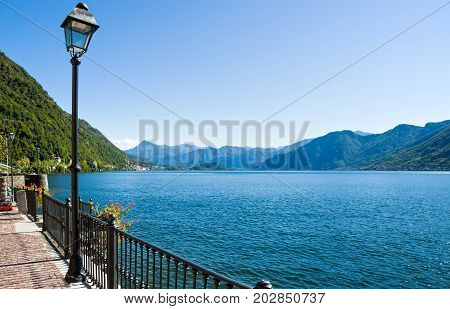 Italy Como Lake view of the lake from Argegno