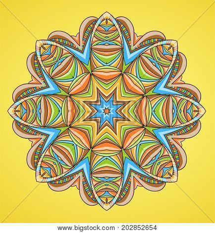 Abstract colorful element of ornament. Illustration 10 version