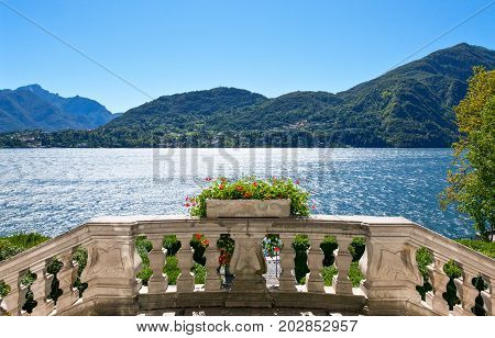 Italy Tremezzo view of the Como lake