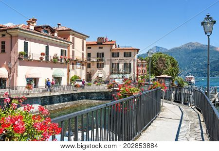 Menaggio Italy - August 31 2010: The village on the Como lake