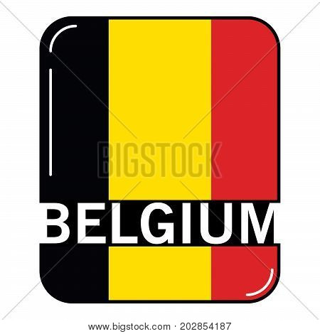 National flag of the Belgium.Concept of design of a poster, banner, icon or the leaflet for the website or a mobile application.Official colors.Icon in flat style a vector.European Union.