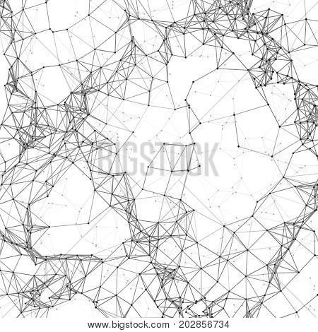Business networking polygonal mesh background. Digital global connection technology concept. Digital mesh background, line connection structure pattern. Vector illlustration