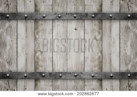Wood with metal texture background. Vintage design