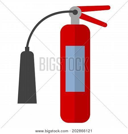 Fire extinguisher flat icon, vector sign, colorful pictogram isolated on white. Symbol, logo illustration. Flat style design