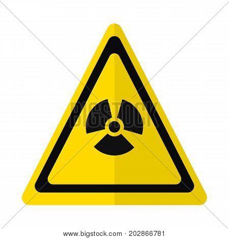 Radiation hazard sign flat icon, vector sign, colorful pictogram isolated on white. Symbol, logo illustration. Flat style design