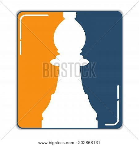 Icon of a chess figure the pawn in flat style a vector. A design concept for a logo or an element of the website.A figure from board game.Element of design of infographics Business strategy