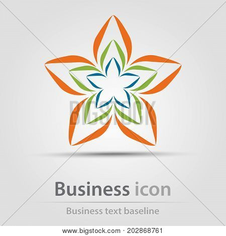 Originally created business icon with color flower