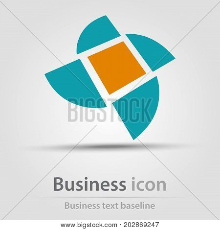 Originally created business icon with perspective mill